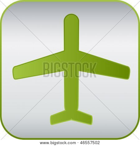 simple modern plane sign, vector icon.