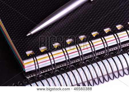 Note book for taking notes with a pen
