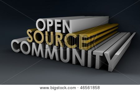 Open Source Community Concept in 3D Art