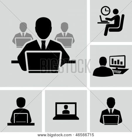 Empresário trabalhando no computador