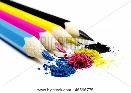 Pencils Cmyk