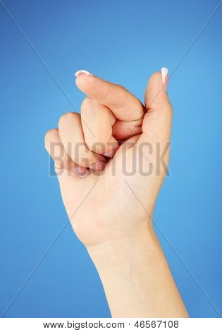 Finger Spelling the Alphabet in American Sign Language (ASL). Letter T