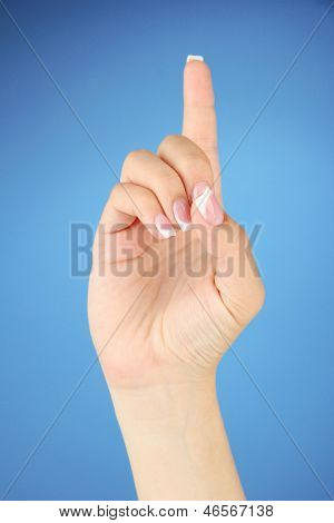 Finger Spelling the Alphabet in American Sign Language (ASL). Letter D