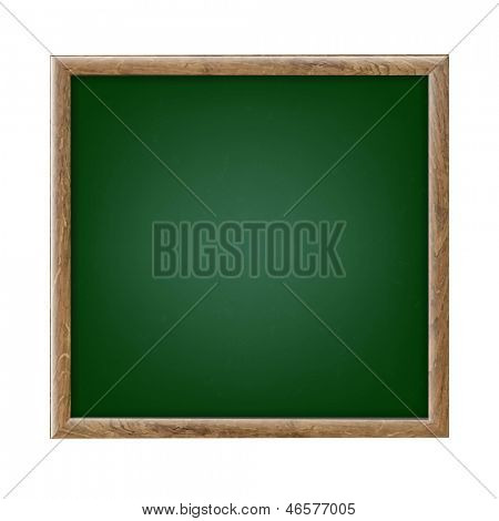 Green Chalk Board With Gradient Mesh, Vector Illustration