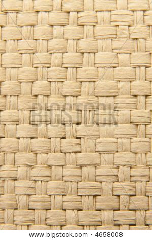 Abstract Yellow Woven Thatch Textured Background