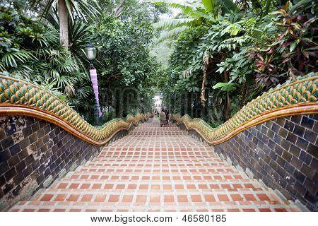 Escada de Naga, Templo de Doi Suthep