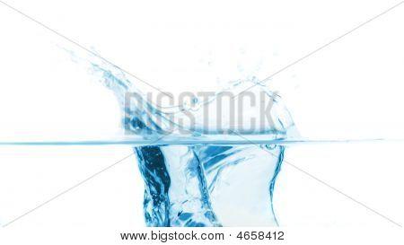 Splash In Blue Water