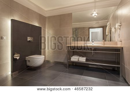 Woodland Hotel - Modern Bathroom
