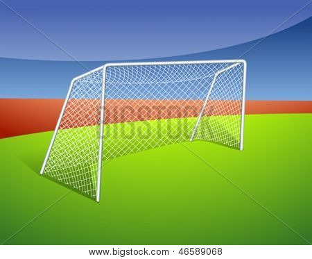 Illustration of a soccer goal