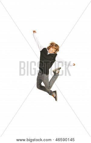 Jumping Schoolboy
