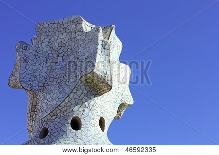 Cross-shaped Chimney Created By Antonio Gaudi.