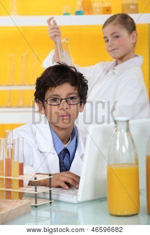 Children in the laboratory