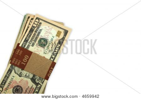 Stack Of 10 Dollar Bills