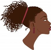 image of negro  - Vector portrait of beautiful African American women - JPG