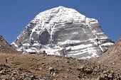 stock photo of jainism  - Holy Mount Kailash in Tibet - JPG