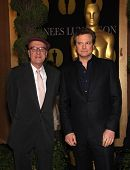 LOS ANGELES - FEB 7:  GEOFFREY RUSH & COLIN FIRTH arrives to the 83rd Academy Awards Nominees Lunche