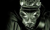 stock photo of gas mask  - UK military  - JPG
