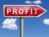 foto of profit  - profit way to progress prosperity success and wealth financial growth profit icon profit button red road sign arrow - JPG