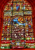 Saint Francis Stained Glass Cathedral Of Saint Mary Of The See Seville Spain
