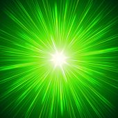 Brillantes luces verdes