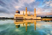 pic of malaysia  - A perfect reflection of the Kota Kinabalu City Mosque in Sabah Malaysia taken at sunset