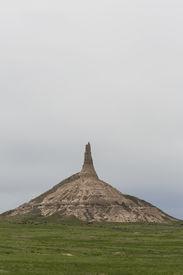 image of western nebraska  - A rock formation that looks like a chimney in western Nebraska - JPG