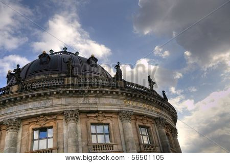Exterior of the Bode Museum on Museum Island in Berlin, Germany