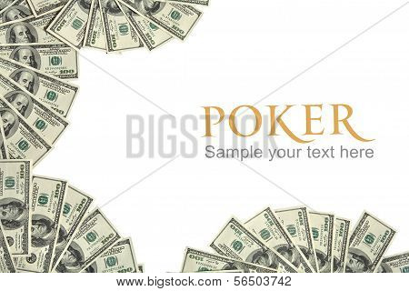 Poker background concept and place for the text