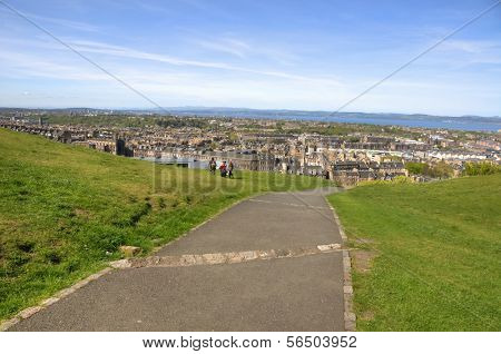 EDINBURGH - MAY 29: Cityscape viewed from Calton Hill May 29, 2009 in Edinburgh, Scotland