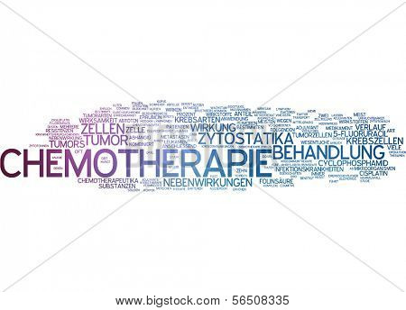 Word cloud -  chemotherapy
