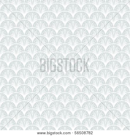 Art deco vector geometric pattern in silver white.