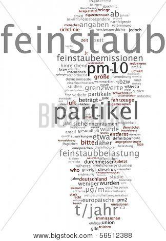 Word cloud -  particulate matter