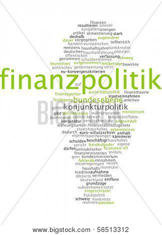 Word cloud -  financial politics