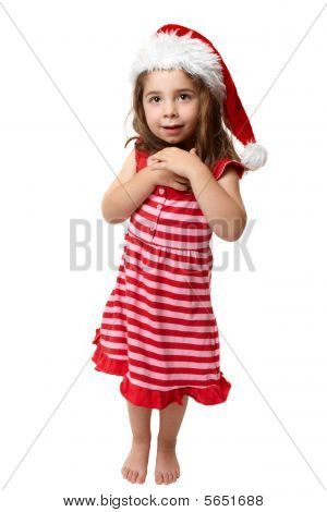 Happy Little Christmas Santa Girl
