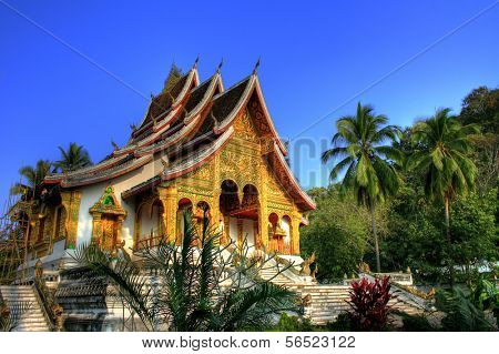 Buddhist Temple in Luang Prabang Royal Palace, Laos