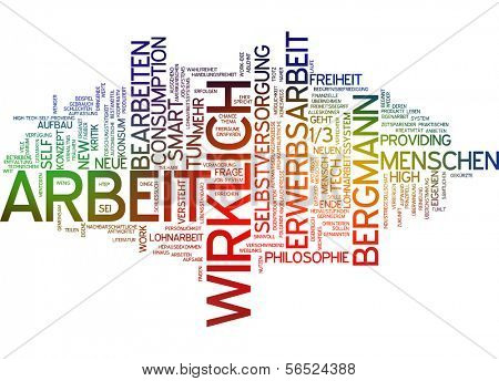 Word cloud -  new work