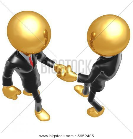 Gold Guy Businessman