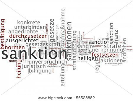 Word cloud -  sanctions