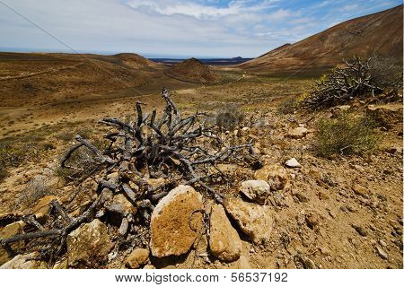 Vulcanic Timanfaya  Rock Stone Sky  Hill