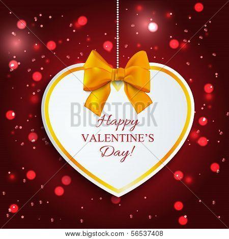 Paper heart Valentine's day