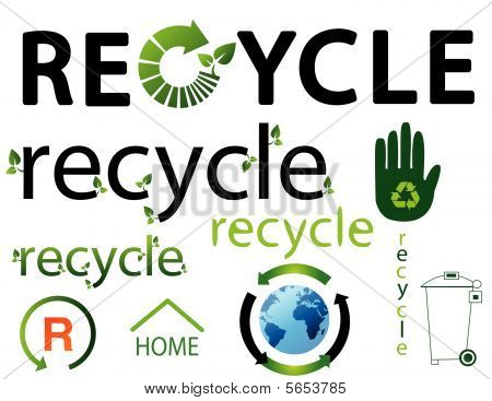set of environmental recycling icons