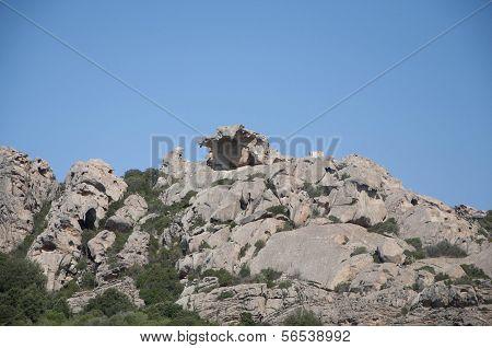 View deal lower Capo Orso, Sardinia