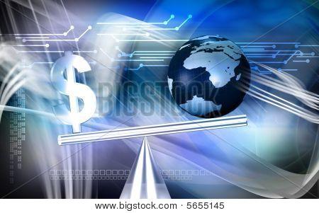 Dollar sign balance