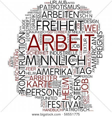 Arbeit Info-text graphic - labor day