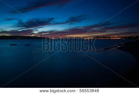 Sunset In Lagoon