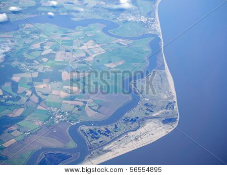 Orford Ness, Suffolk, Aerial view