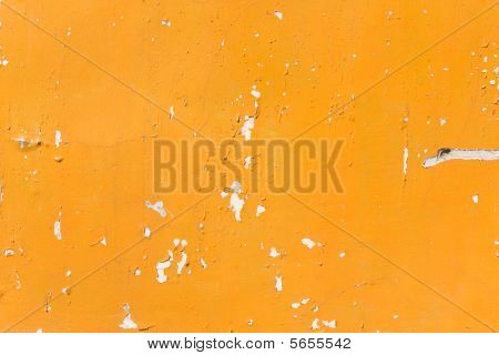 Old Orange Painted Wall Texture
