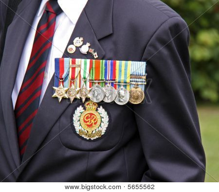 Military award medals of a world war 2 war veteran