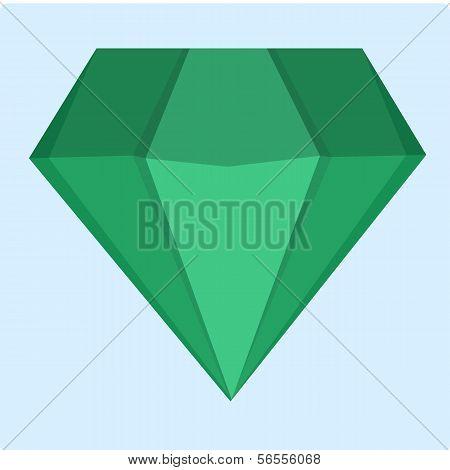 Emerald green vector icon