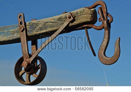 Vintage Pulley and Hook for Lifting